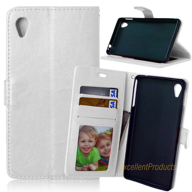 Luxury Leather Wallet Phone Case For Sony M4 Aqua Flip Cover Card Slot Stand Magnetic Fundas For Sony M4 Aqua