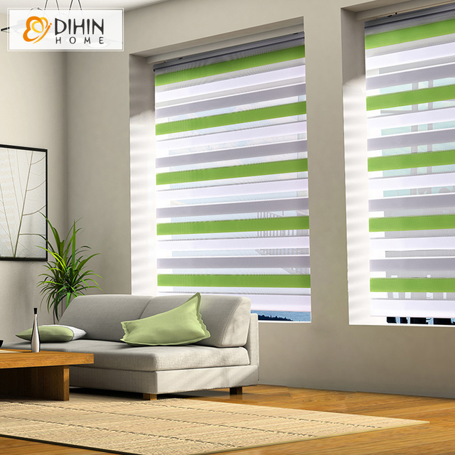 Zebra Blind Shutter Curtains 2 Colors Thickening Roller Shutter Double Layer Shade Blinds Custom Made Curtain Free Shipping