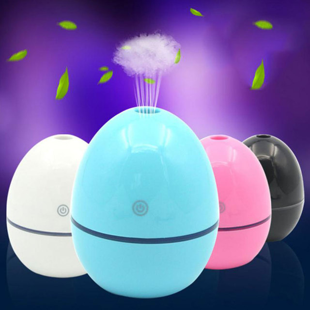 Mini Air Purifier Mist Maker Aroma Diffuser Indoor Atomizer Office Egg Shape 2W USB Air Humidifier Bedroom Home Car
