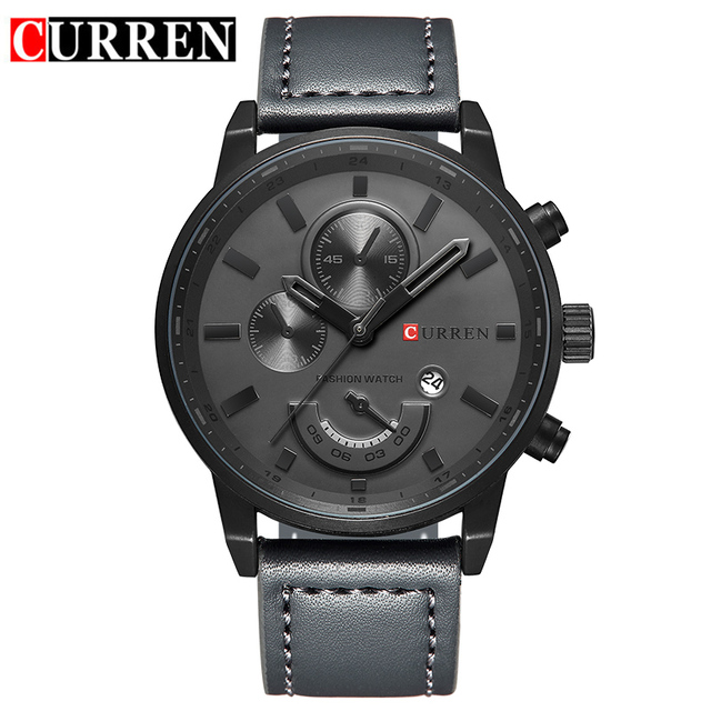 Curren Luxury Brand Men Quartz Watch Leather Strap Casual Military Army Watches Men Wristwatch Outdoor Sports Watch