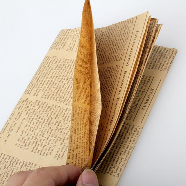 52x75cm Newspaper Decoration Wrapping Paper Wrap Gift Wrap Double Sided Christmas Party Decor Vintage Kraft Paper