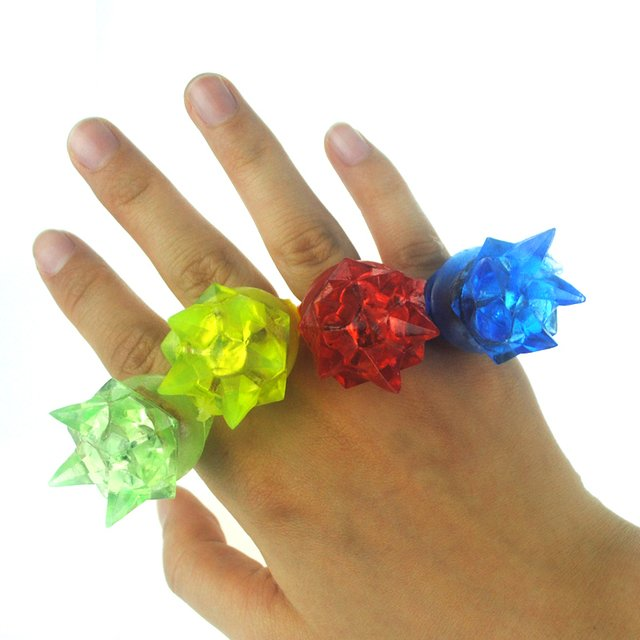 Light-Up Toys 3*3*4cm Soft finger ring special fashion silicone led light up toy glowing finger party favors 10pcs/lot