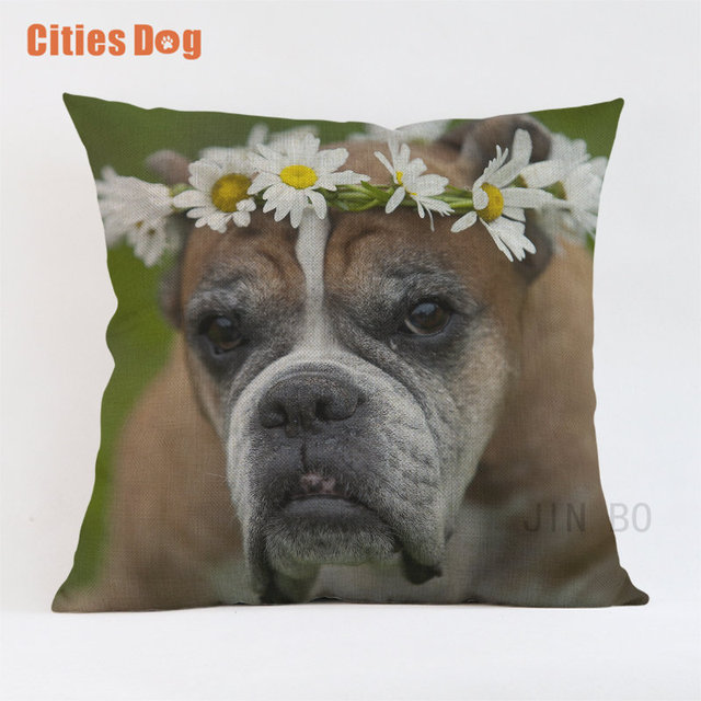 Boxer Dog pillow covers decorative cushion covers for sofa Pillows Animals Boxing lion dogs pillowcase cushions cover home
