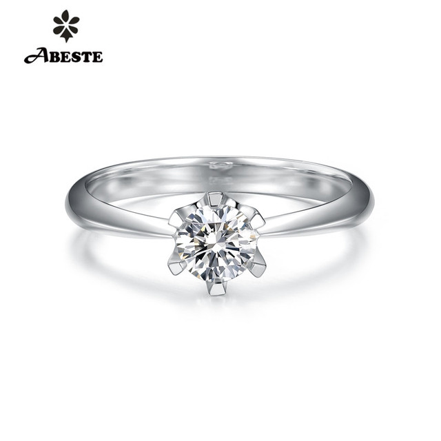 ANI 18K Solid White/Yellow/Rose Gold (AU750) Wedding Ring 0.2ct Certified Solitaire Real Natural Diamond Women Engagement Ring