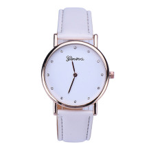 2016 New Arrival Women Watches Fashion Geneva Women Rhinestone Dial Leather Analog Quartz Wrist Watch Ladies Clock Montre Femme