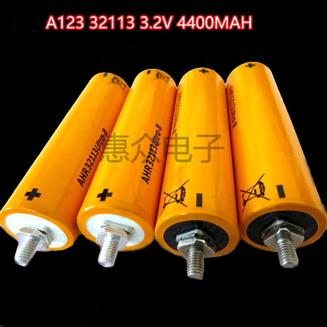4pcs Brand LIfepo4 3.2v 4.4Ah 4400mah 35C High discharge 60A 32113 3.2v 4000mah 5Ah for car jump starter 12v 4s diy power tools