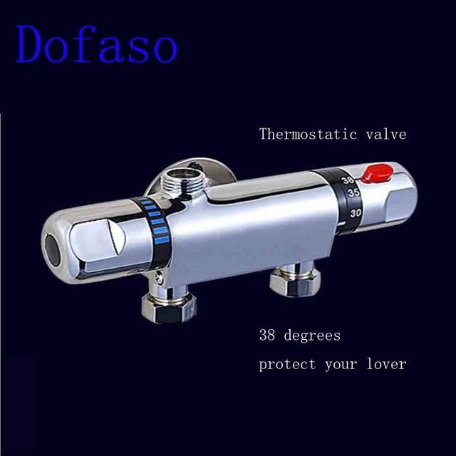 Dofaso Ceramic Temperature Control thermostatic mixing valve Faucet Mixer Tap Shower Valve Wall Mounted