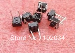 FREE SHIPPING 100PCS 6X6X5(h)MM DIP Tactile Tact Push Button Micro Switch Momentary Two Pin  (High temperature resistant ROHS)