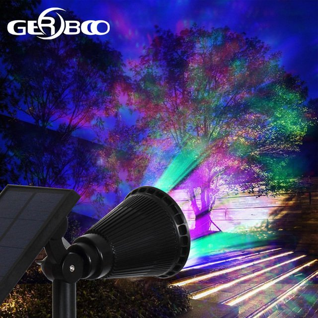 7 LED Solar Spot Light Auto Color Changing Outdoor Lighting Waterproof Solar Powered Security Landscape Wall Light