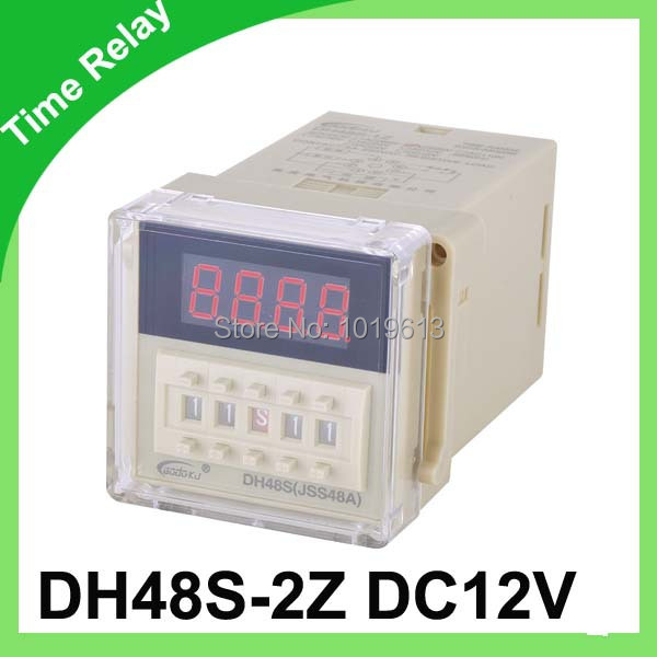 12v time delay relay dh48s-2z 12v timer relay with socket