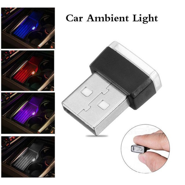7 Colors Mini USB Light LED Modeling Light Auto Car Ambient Light Neon Interior Light Motorcycle Car Interior Jewelry Lamp
