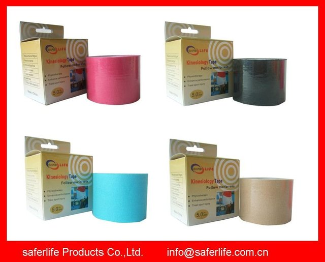 mail 5cm* 5m Kinesiology tape  for sports safe guard back guard cotton sports tape
