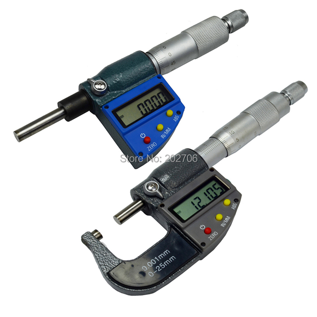 1pcs High quality 0-25mm 0.001mm Digital Micrometer electronic micrometer head micron thickness gauge caliper measuring tool