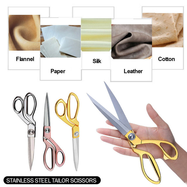 3 Colors Vintage Scissors for Household Clothing for Stainless Steel Sewing Sewing Scissors Diy Tool Tailor Scissors Gold