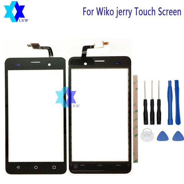 For Wiko jerry Touch Screen Glass Original Guarantee Original New Glass Panel Touch Screen 5.0 inch Tools+Adhesive Stock