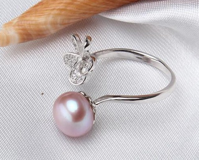 4 color Real Freshwater Pearl Ring FREE SIZE ADJUSTABLE Finger Ring Hot Cheap Sale Fashion Silver Jewelry