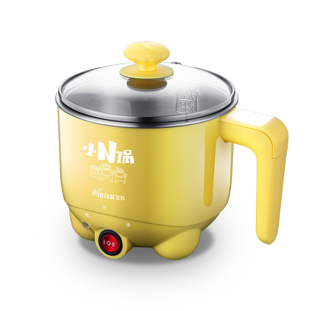 220V Multifunctional Electric Skillet Personal Rice Cooker Auto Rice Cooker for Rice Soup Porridge Steamed with Egg Steamer