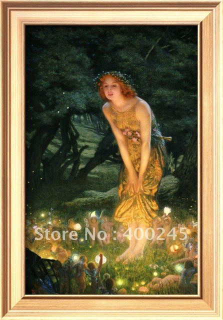 portrait oil painting Oil painting reproduction Midsummer Eve by Edward Robert Hughes 100% handmade Mesuem quality Free shippin