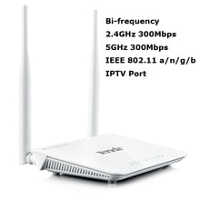 High Speed Tenda 600Mbps Concurrent 2.4GHz 5GHz Bi-frequency Wireless WiFi Router with IPTV Port English Version Free Shipping