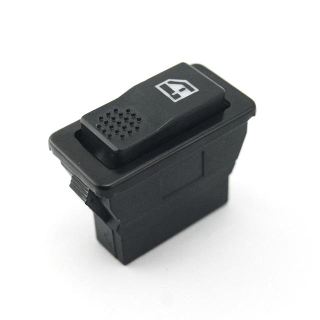 New High Quality 12V 24V 5-pin Plastic Car Power Window Single Switch With Light Universal For Cars Black