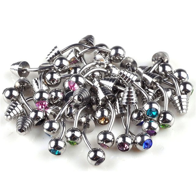 Wholesale LOT 60pcs Stainless Steel 18G 3mm Ball Body Piercing Lip Labret Ring Bar Free SHipping