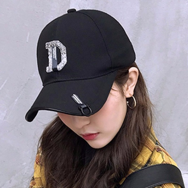 MAERSHEI Cotton D letter Embroidery Baseball cap men women Summer fashion Dad hat Snapback Hip-hop caps wholesale Casquette