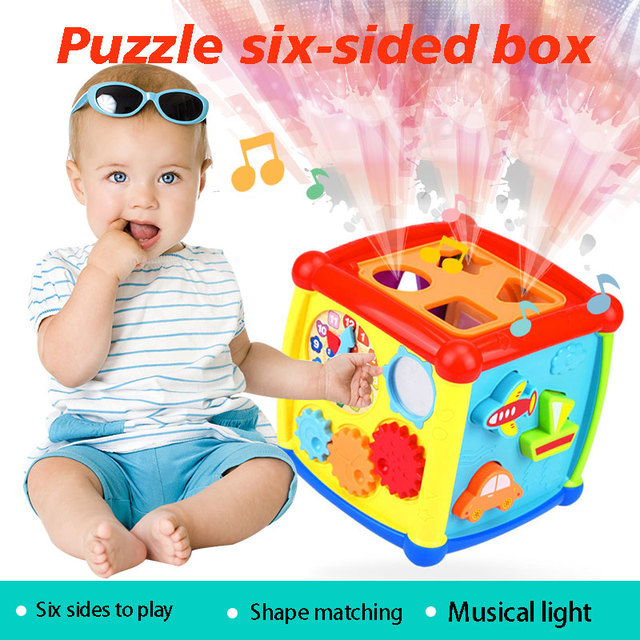 3D Toy blocks High-Definition Early Education Toys Cube Interesting Music Toys for Model Educational toys