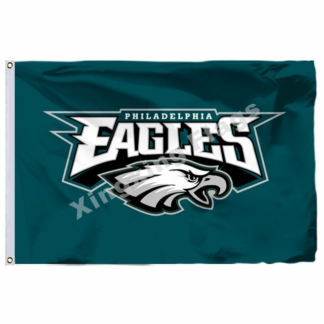 Philadelphia Eagles Flag 3ft X 5ft Polyester NFL1 Philadelphia Eagles Banner Flying Size No.4 90*150cm Custom Flag