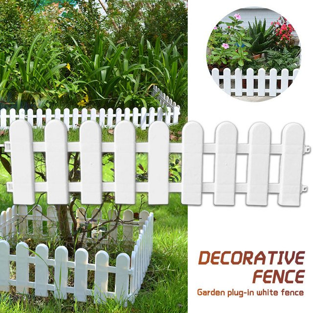 Plastic Fence Christmas Tree Fence Hotel White Christmas Decorative Fence Flower Pots Enclosure Party Accessories Fashion