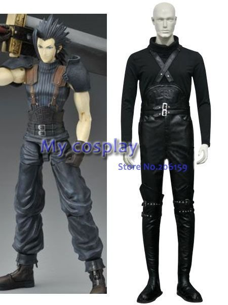 Final Fantasy VII Crisis Core Zack Fair Cosplay Costume Halloween Clothing Men Cool Cosplay