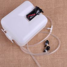 DWCX Universal 12V Metal White Car 2 Pin Windshield Washer Reservoir Pump Bottle Tank Kit Jet Switch Clean Tool For Classic Cars
