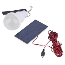Portable Solar Powered Bulb Lamp 15W 130LM Led Charged Solar Energy Panel Light For Outdoors Camping Tent Night Light