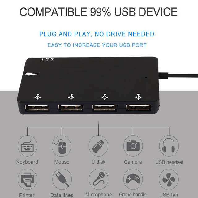 Universal Hub Computers ABS Converter Connector Durable USB Adapter Networking