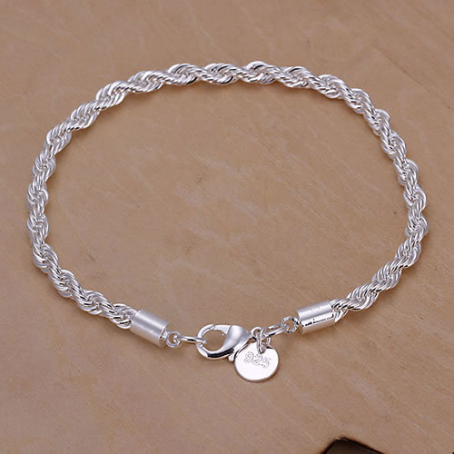 GSSPH207 Free shipping,wholesale,925 silver twisted bracelets,fashion jewelry, Nickle free,antiallergic,factory price