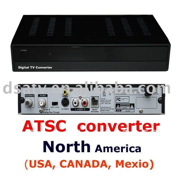ATSC receiver converter   set top box