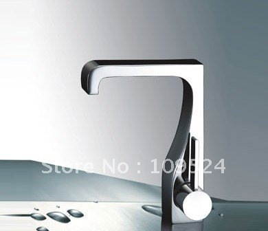 FREE SHIPPING Modern Bathroom Sink Faucet chrome mixer tap Single Handle Chrome Centerset Bathroom Sink Faucet