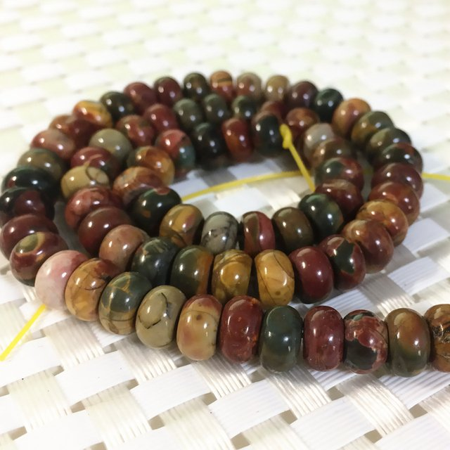 5*8mm abacus natural picasso stone beads loose beads rondelle shape high quality new fashion women hot sale jewelry 15inch B374