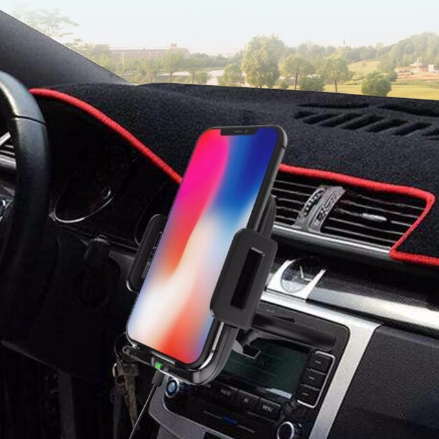 Qi Wireless Car Charger For iPhone X 8 Plus 2A Phone Charger CD Slot Mount Holder For Samsung Note 8 S8 S7 Edge Wireless Charger