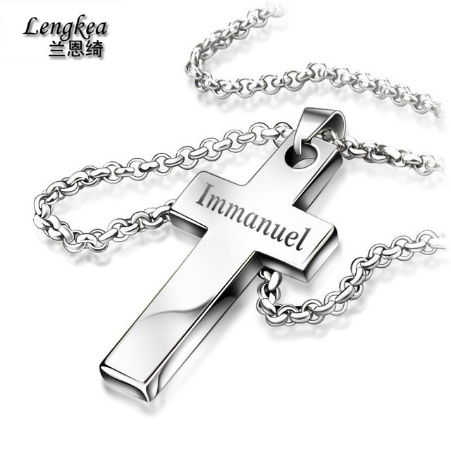Men choker,male cross tungsten bars and rods necklace lettering and glossy designs jewelry necklace,boy friend gift