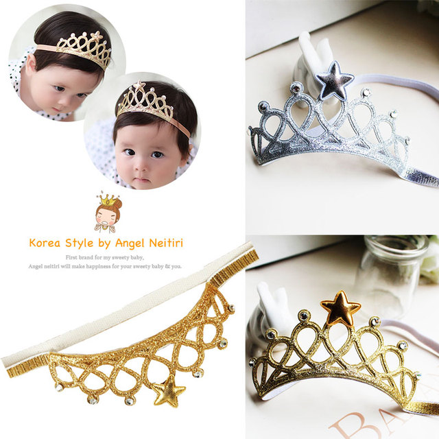 2 Colors Infant Hair Band Newborn Hair Band Baby Hair Band Turban Five-Pointed Star Lovely
