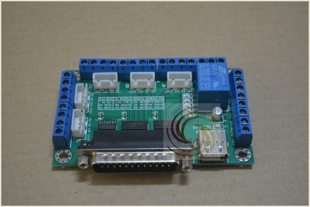 mach3 5 axis CNC breakout board interface board for stepper motor driver with one usb Cable # 5 axles driver board 1pcs