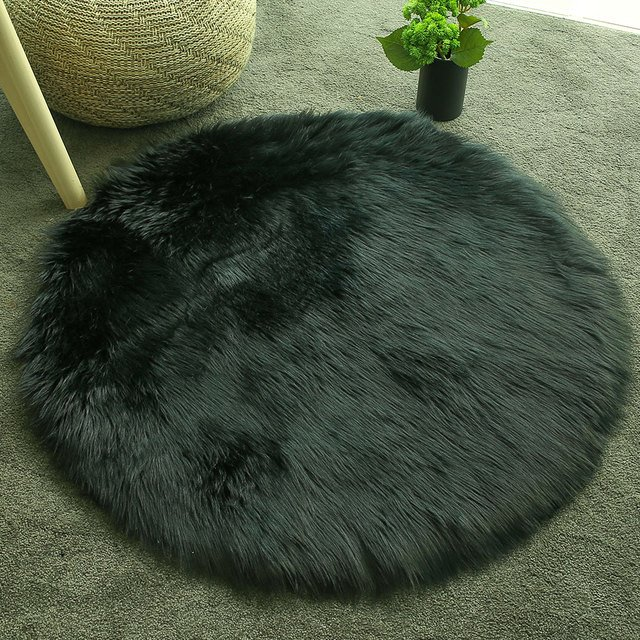 Wool Carpet Floor Sofa Mat Bedroom Anti-Skid Living Room Floor Decoration Wool Carpet Fluffy Home Multicolored Fluffy Rugs