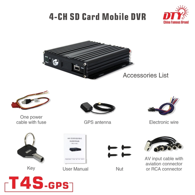 Professional taxi car truck cctv dvr, ahd 4ch mdvr with gps, T4S with gps