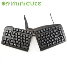 Minicute K-02 Adjustable Keyboard split ergonomic keyboard USB wired keyboard Black Free shipping