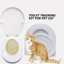 2pcs Cat Toilet Seat Training Kit Puppy Litter Potty Tray Pets Cleaning Supplies Training Products Plastic Cat Toilet Trainer