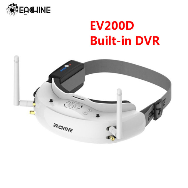 Original Eachine EV200D 1280*720 5.8G 72CH True Diversity FPV Goggles HD Port in 2D/3D Built-in DVR For RC Racing FPV Drone Part