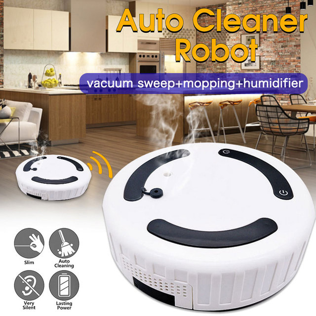 2019 Drop Shpping Humidifier Auto Cleaning Robot Auto Sweeping Robot Rechargeable Household Smart Vacuum Cleaner for Sweeper