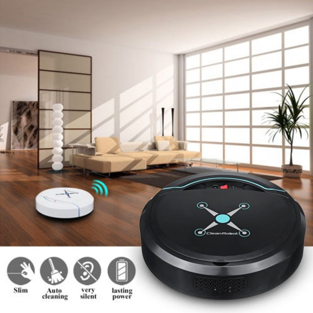 New Rechargeable Automatic Cleaning Robot Smart Sweeping Robot Vacuum Floor Dirt Dust Hair Cleaner Home Sweeping Machine Sweeper