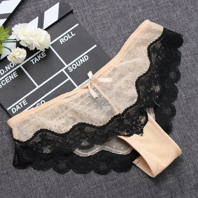 1PC Sexy Soft Comfortable Breathable Summer Low-Rise Knickers Hollow Briefs Ultra Thin Underwear Lace Panties Lady Sleepwear