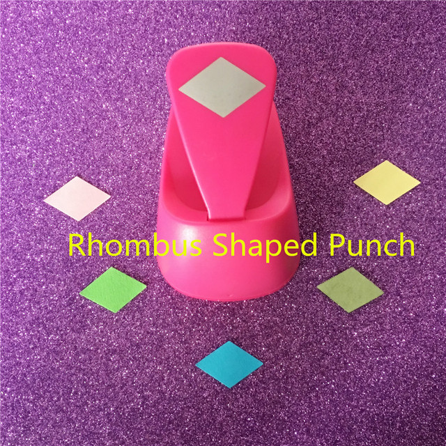 Free Shipping M size rhombus shaped save power paper/eva foam craft punch Scrapbook Handmade punchers DIY hole punches puncher